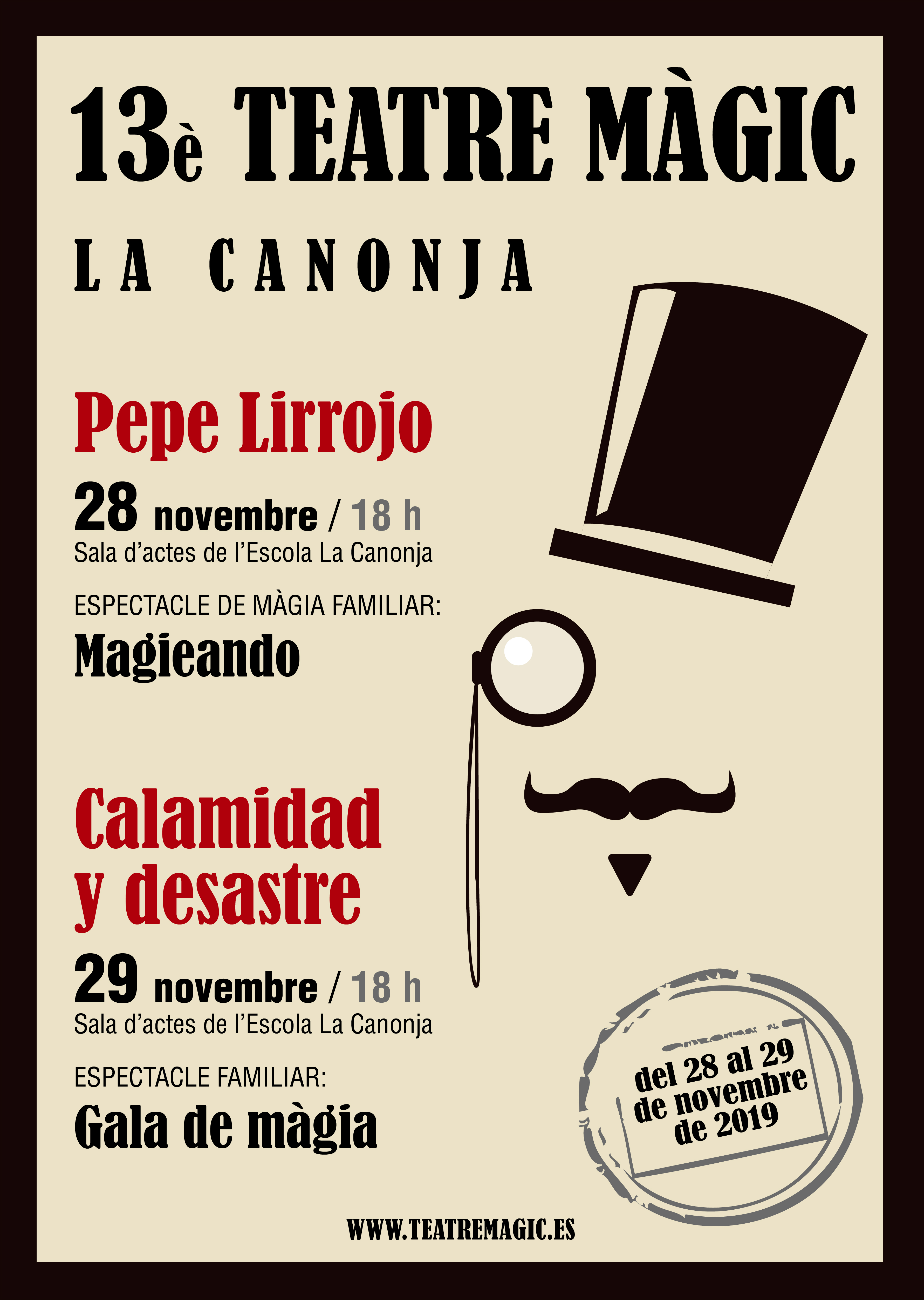 Cartel Teatre magic 2019